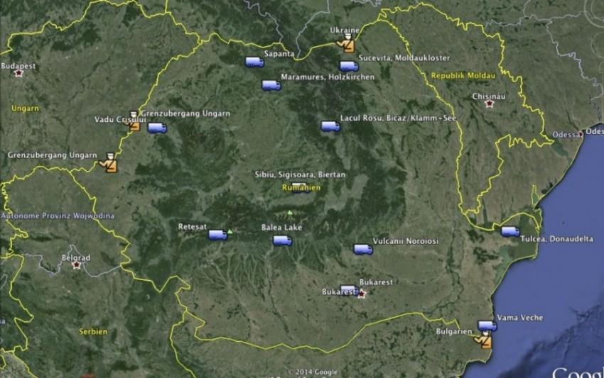Rumänien Route 2014