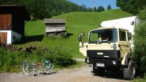Übernachtung in den Alpen