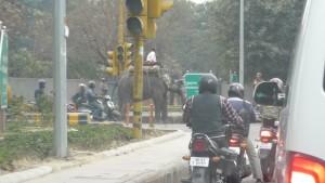 Verkehrsteilnehmer in Delhi