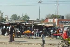 auf dem Weg nach Fatehpur Sikri und Agra