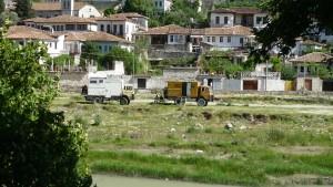 Camping in Berat am Fuß der Altstadt