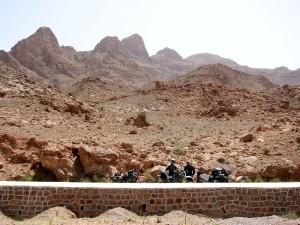 on tour Richtung Wüste