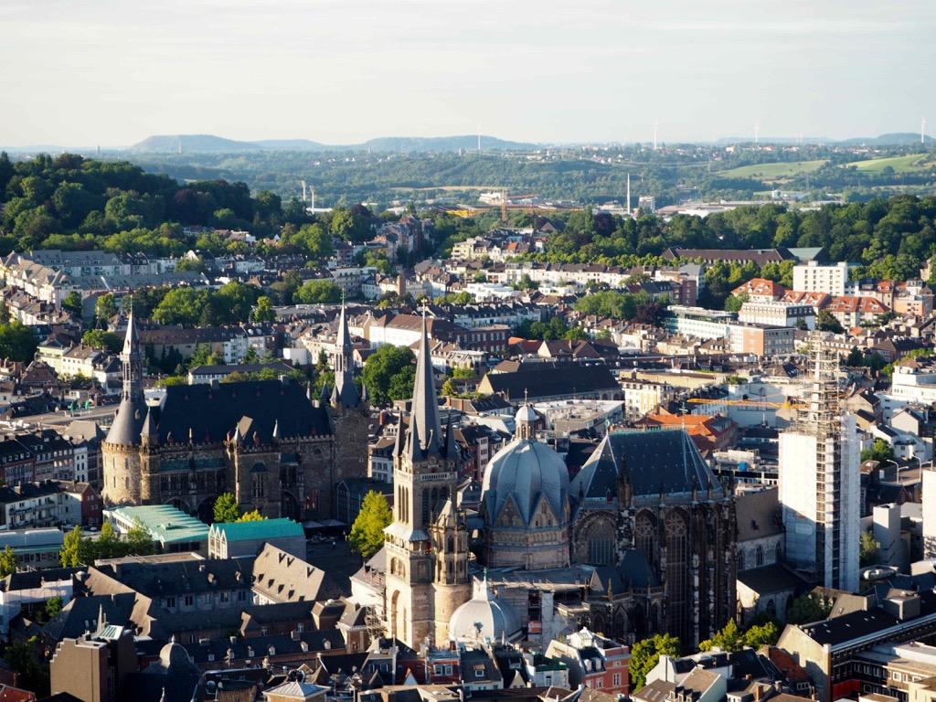 über den Dächern von Aachen